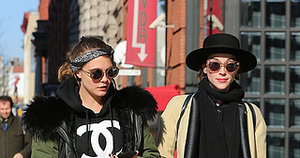 Cara Delevingne and St. Vincent, a Beautiful Pair, Walk Together Beautifully