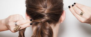 How to Create the Criss-Cross Ponytail You Love From Pinterest