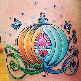 Real-Girl Cinderella Tattoos That Will Make You Feel Like a Princess