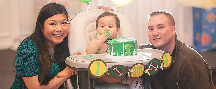 Daxton Kicked Off His First Birthday With a Sweet Football-Themed Celebration