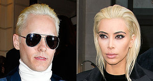Newly Blond Jared Leto Totally Upstaged Newly Blonde Kim Kardashian Today