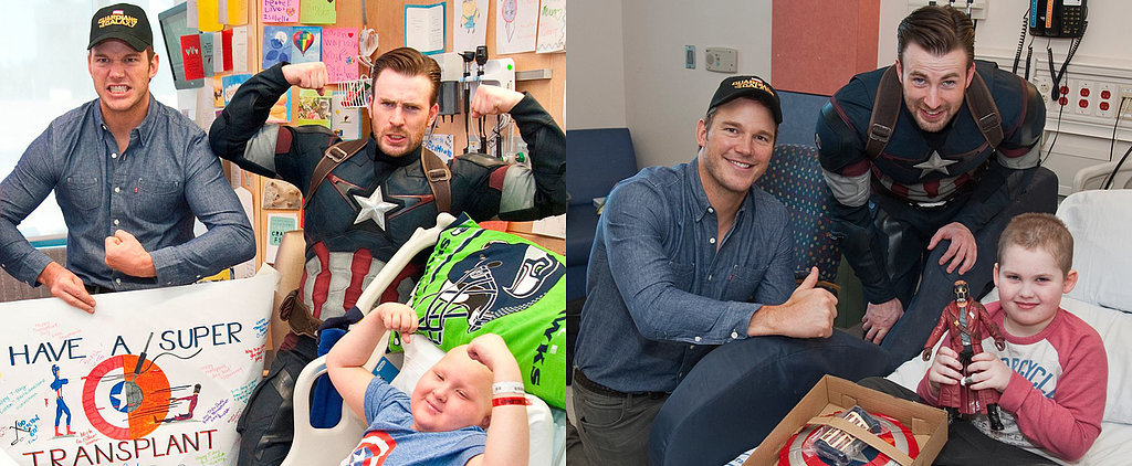 Chris Pratt and Chris Evans Become Real-Life Superheroes All Over Again