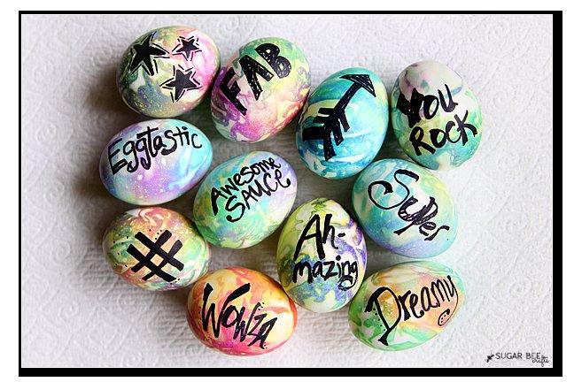 Tie Dye – Typography Easter Eggs