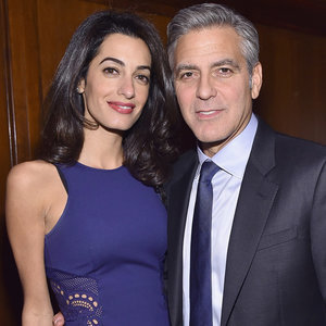 George and Amal Clooney at 100 Lives Initiative in New York