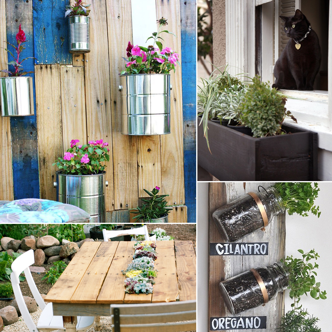 Small space gardening diys popsugar home for Outdoor decorating hacks