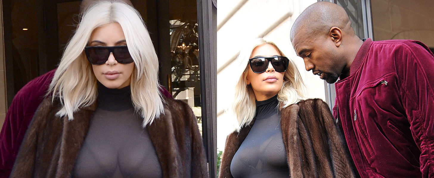 It's Never Too Chilly For Kim Kardashian to Show Cleavage
