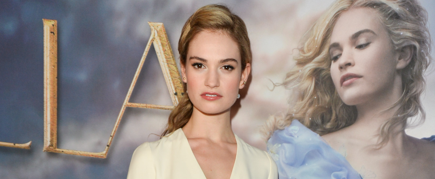 How Lily James Morphed Into a Real-Life Red Carpet Princess