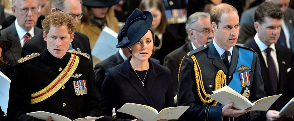 Kate Middleton, Prince William, and Prince Harry Step Out For a Special Service