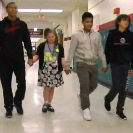 School Basketball Players Help Girl Being Bullied