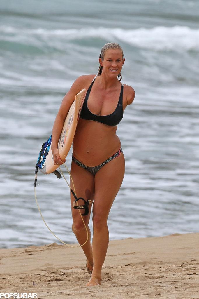 Pregnant bethany hamilton surfing in a bikini pictures popsugar