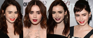 Lily Collins' Great Hair and Lip Colour Game Is as Famous as She Is