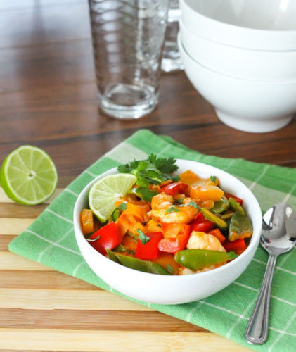 Clean Eating Thai Coconut Shrimp Curry - Eat Spin Run Repeat