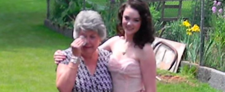 When This Grandma Sees Her Granddaughter's Prom Dress, She Breaks Down