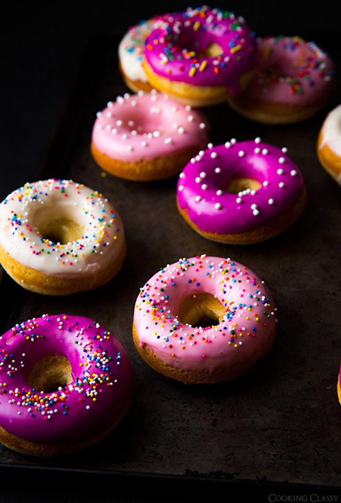 Baked Vanilla-Bean Doughnuts