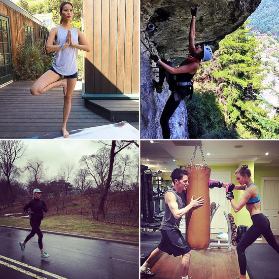 These Celebs Know How to Fit In a Workout, No Matter What