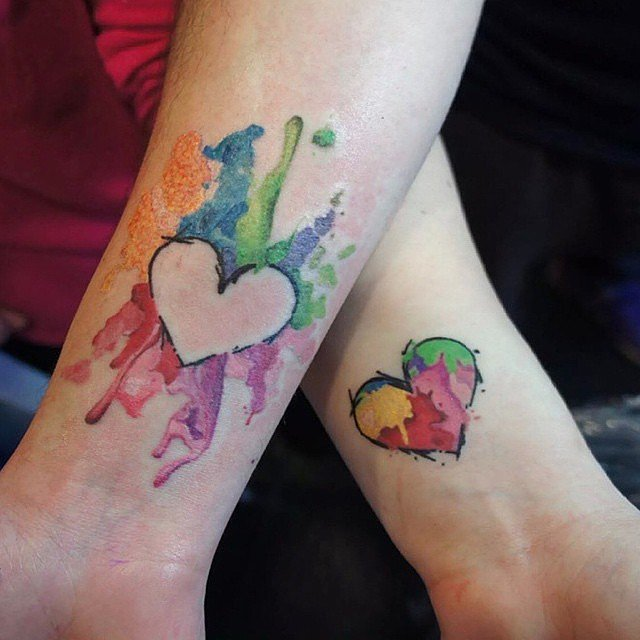 Watercolor Heart Puzzle Pieces Watercolor Heart Tattoo