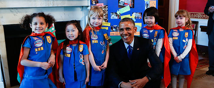 6-Year-Old Supergirls Show President Obama Impressive Design at White House Science Fair