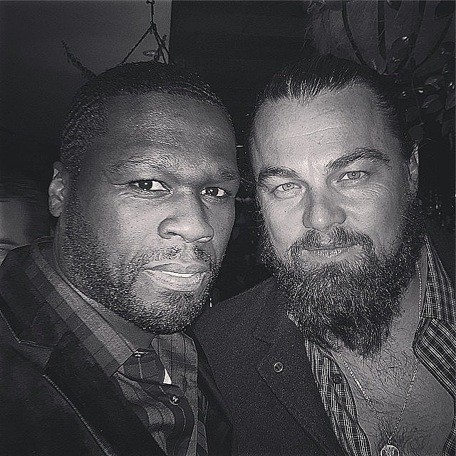 Nope, 50 Cent and Leonardo DiCaprio aren't too cool to take a selfie at a party.