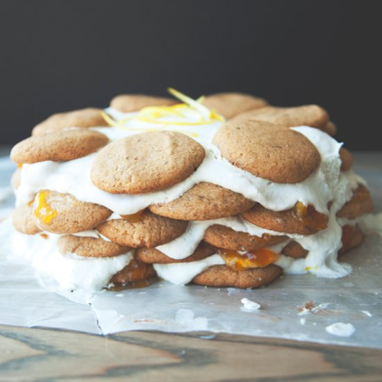 Vegan Coconut Lemon Jam Cake