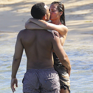 Chrissy Teigen and John Legend Beach Vacation Pictures