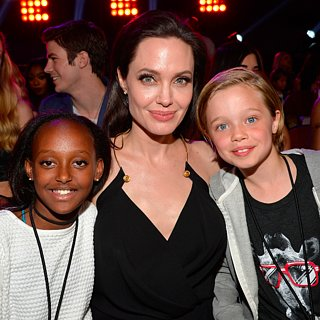 Angelina Jolie With Shiloh and Zarah