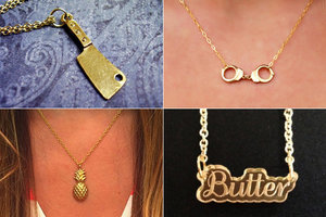 Etsy Spotlight: 13 Delicate & Cheeky Gold Necklaces