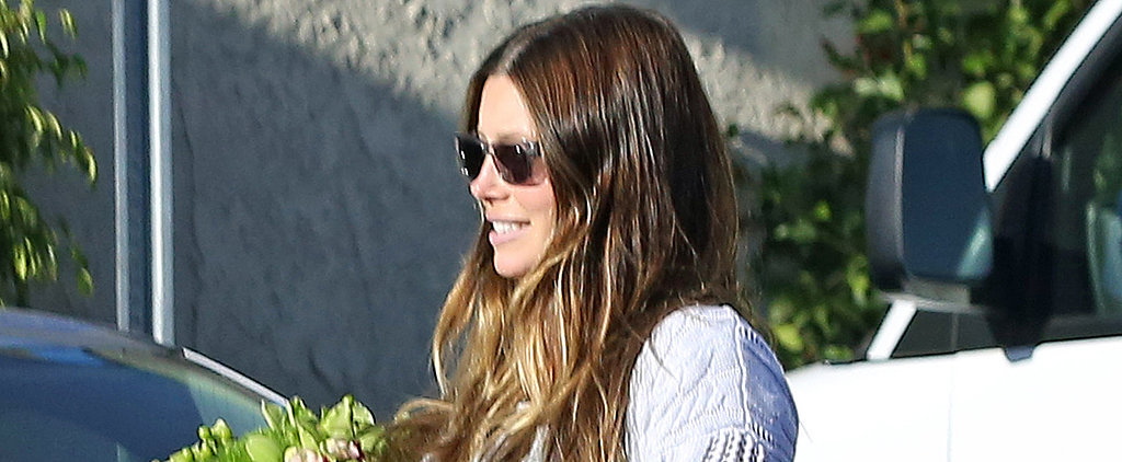 Jessica Biel's Adorable Baby Bump Peeks Out!