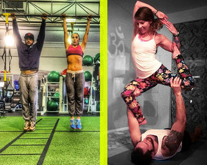 These 14 Pics of Couples Sweating Together Prove That Gym Romance Is Real
