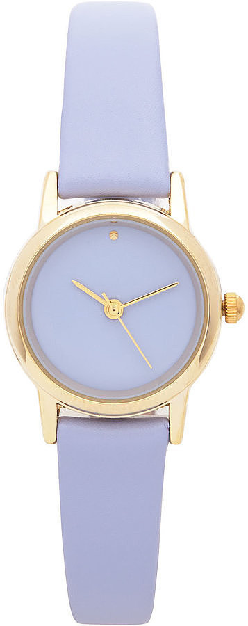 American Apparel Grape Pastel Leather Quartz Wristwatch
