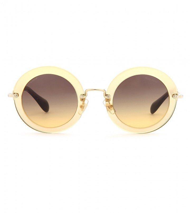 Miu Miu Round-Frame Sunglasses
