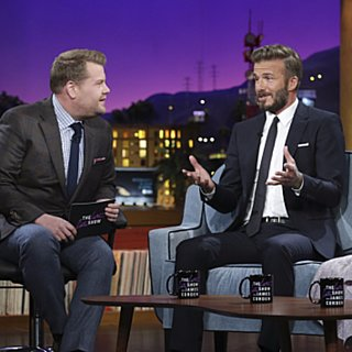 David Beckham on The Late Late Show With Jame