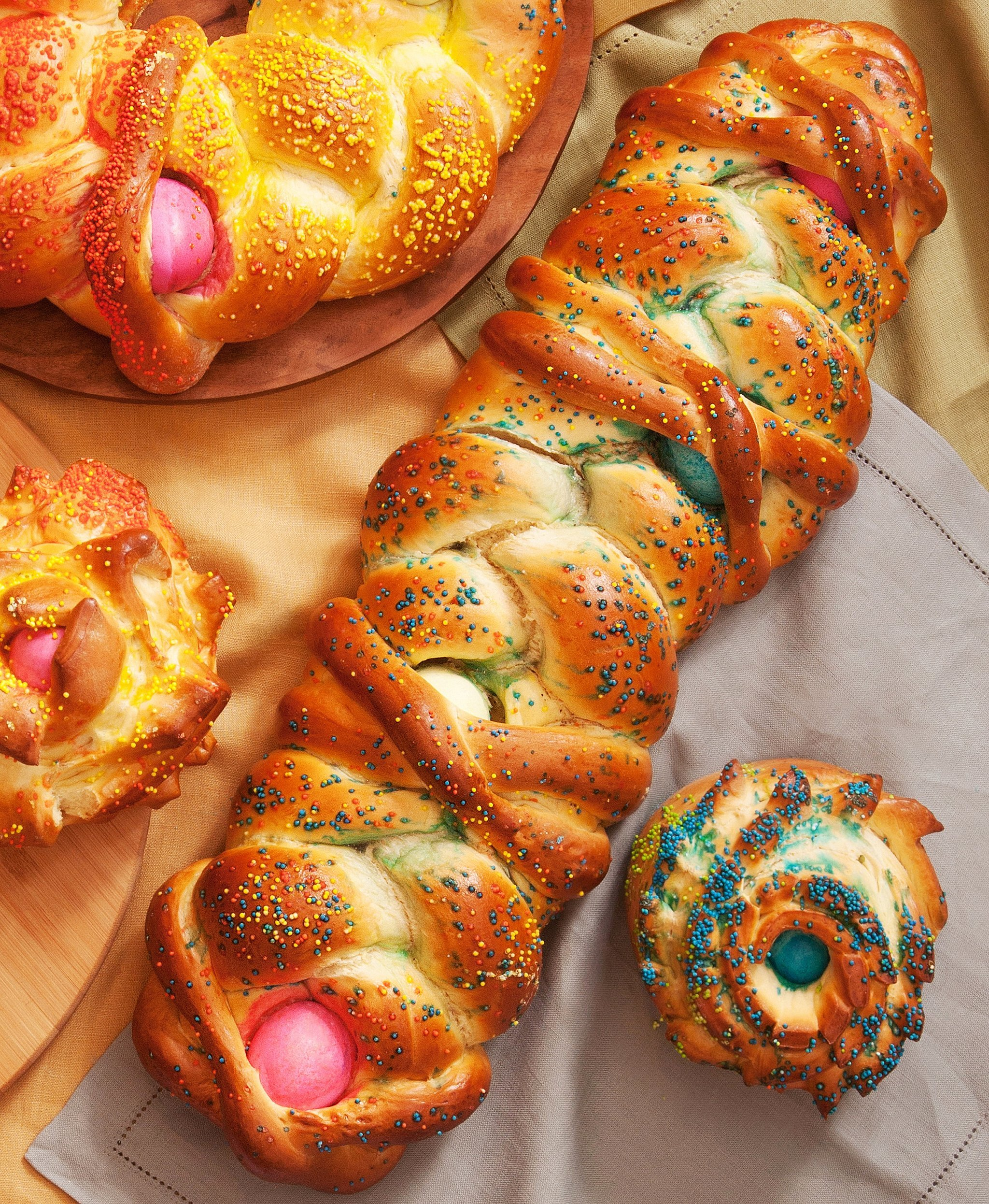 Easter Bread With Colored Eggs | POPSUGAR Food
