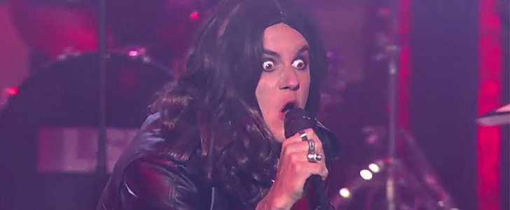 "Justin Bieber Totally Transforms to Lip-Sync Ozzy Osbourne's ""Crazy Train"""