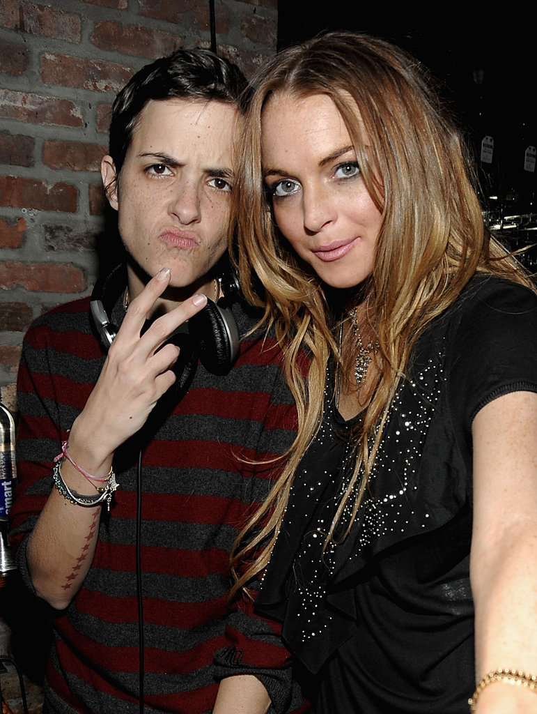 Lindsay Lohan dated Mark's sister Samantha Ronson on and off from 2008 to 2009.