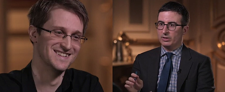 In Which John Oliver Gives Edward Snowden a D*ck Pic