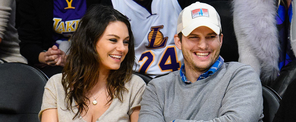 Ashton Kutcher and Mila Kunis Hilariously Photobomb Friends at a Baseball Game