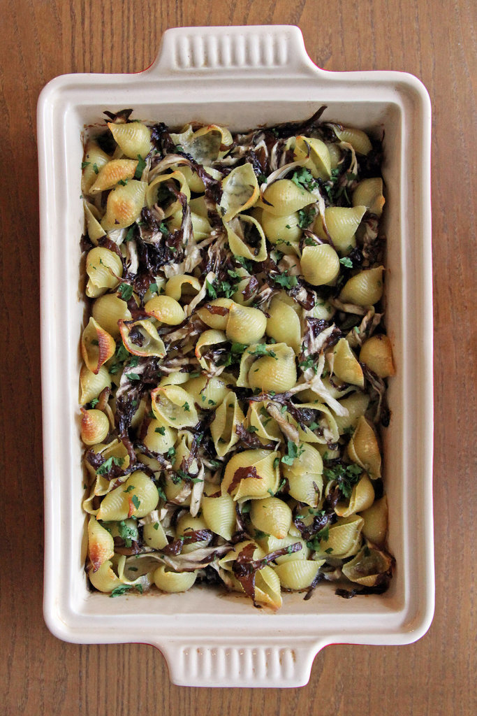 Three-Cheese Shells With Mushrooms and Radicchio