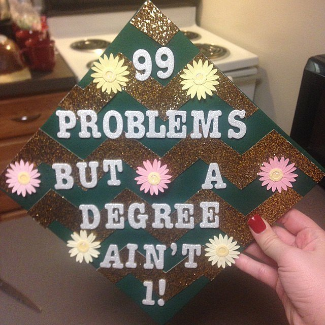 This grad is putting things into perspective.
