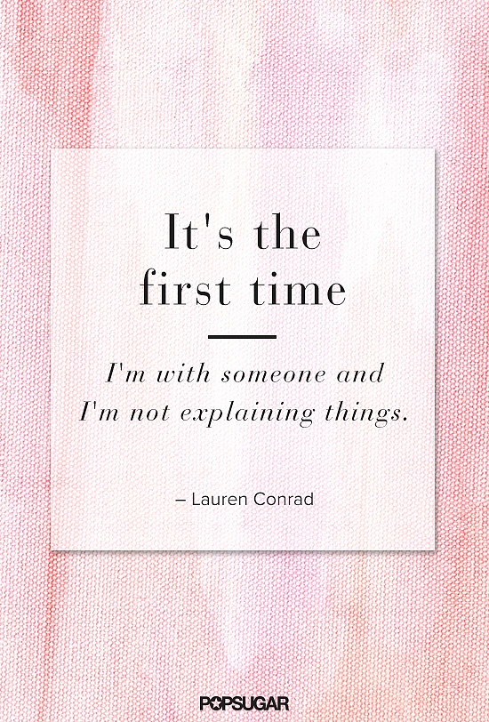 Lauren Conrad shared her insights on easy, effortless love.