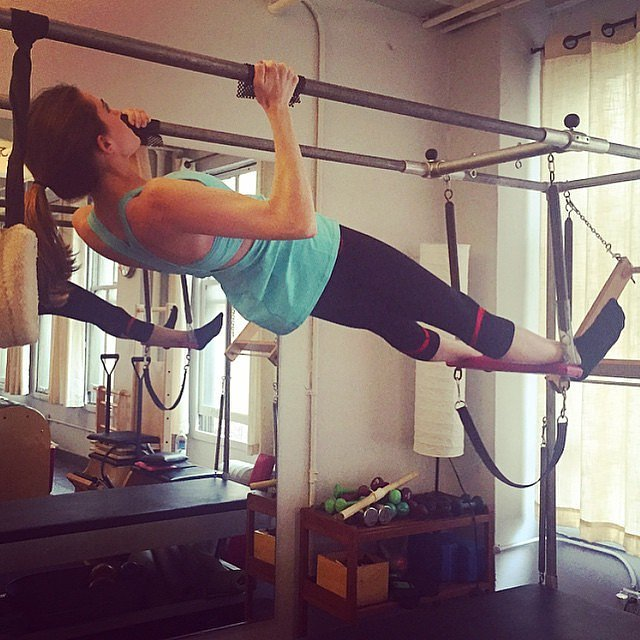 Allison Williams did some Pilates.