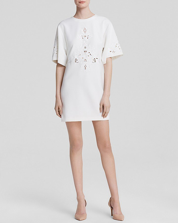 Cynthia Steffe Jenna Wide Short Sleeve Cutout Shift ($298)