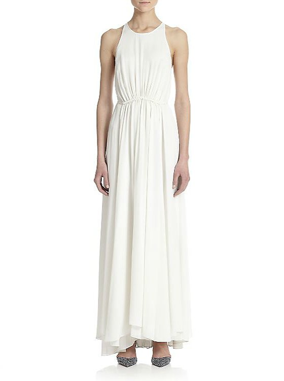 3.1 Phillip Lim Gathered-Waist Silk Maxi Dress ($975)
