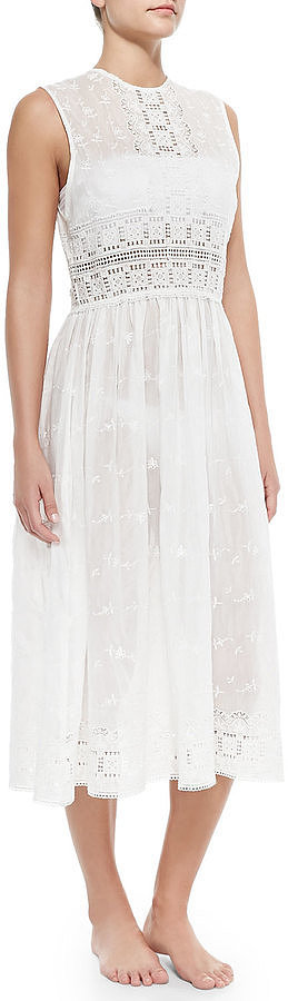 Zimmermann Embroidered Eyelet Voile Coverup Dress ($565)