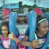 These 2 Little Girls Have All the Emotions While Riding the Slingshot Ride