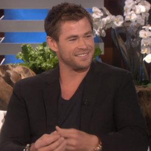 Chris Hemsworth Interview About Family on Ellen April 2015