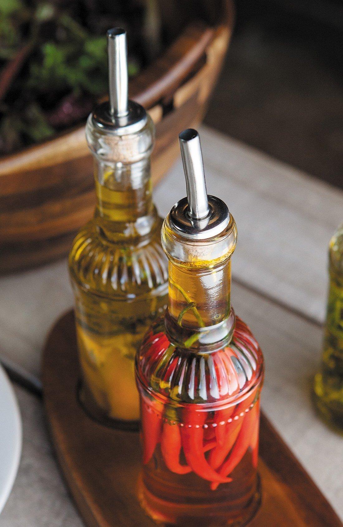 Oil and Vinegar Glass Bottles