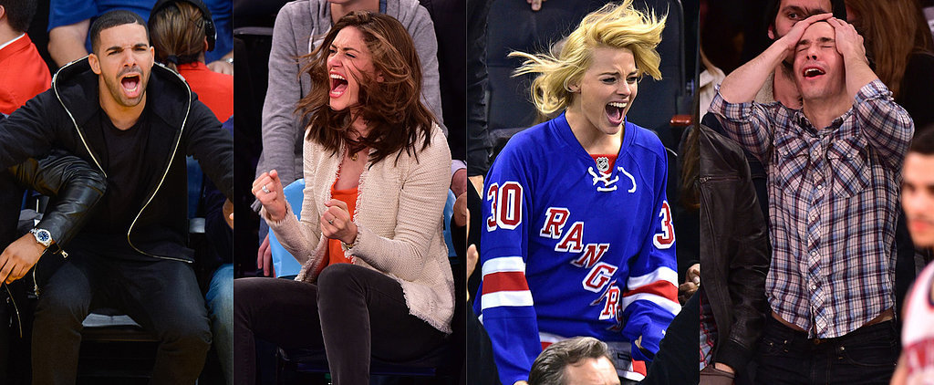 They've Got Spirit! 47 Pictures of Stars Freaking Out at Sports Games