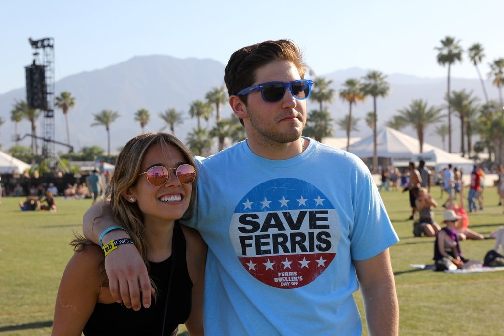 A couple enjoyed the shows at Coachella this year.