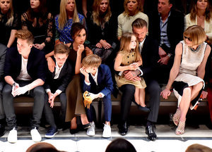 Victoria and David Beckham Sit Front Row With Kids at Burberry Show: Was Anna Wintour Impressed?