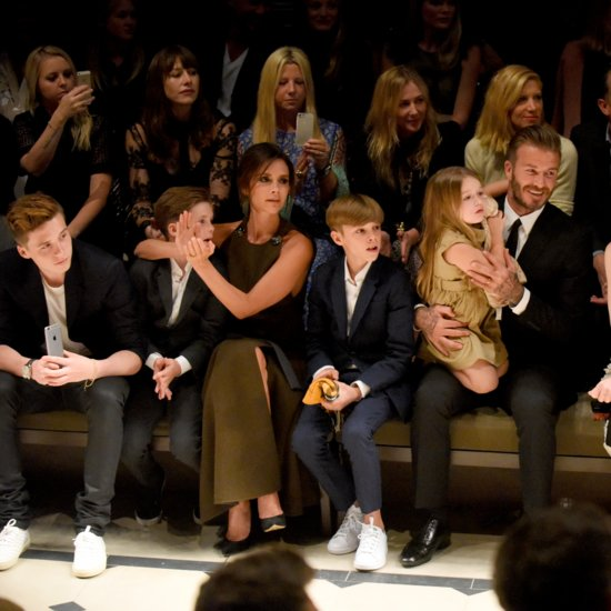 David and Victoria Beckham With Their Kids at Burberry Show
